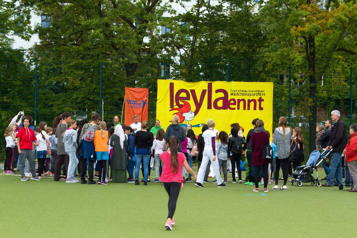 Capoeira Akademie Berlin: Leyla rennt Schulprojekt