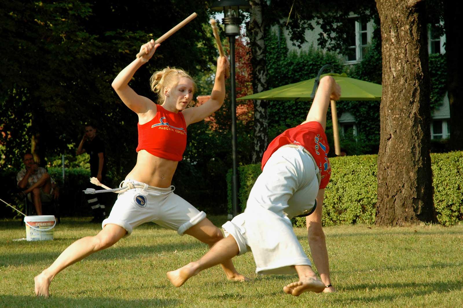 Capoeira Akademie Berlin: Maculélé- Stocktanz