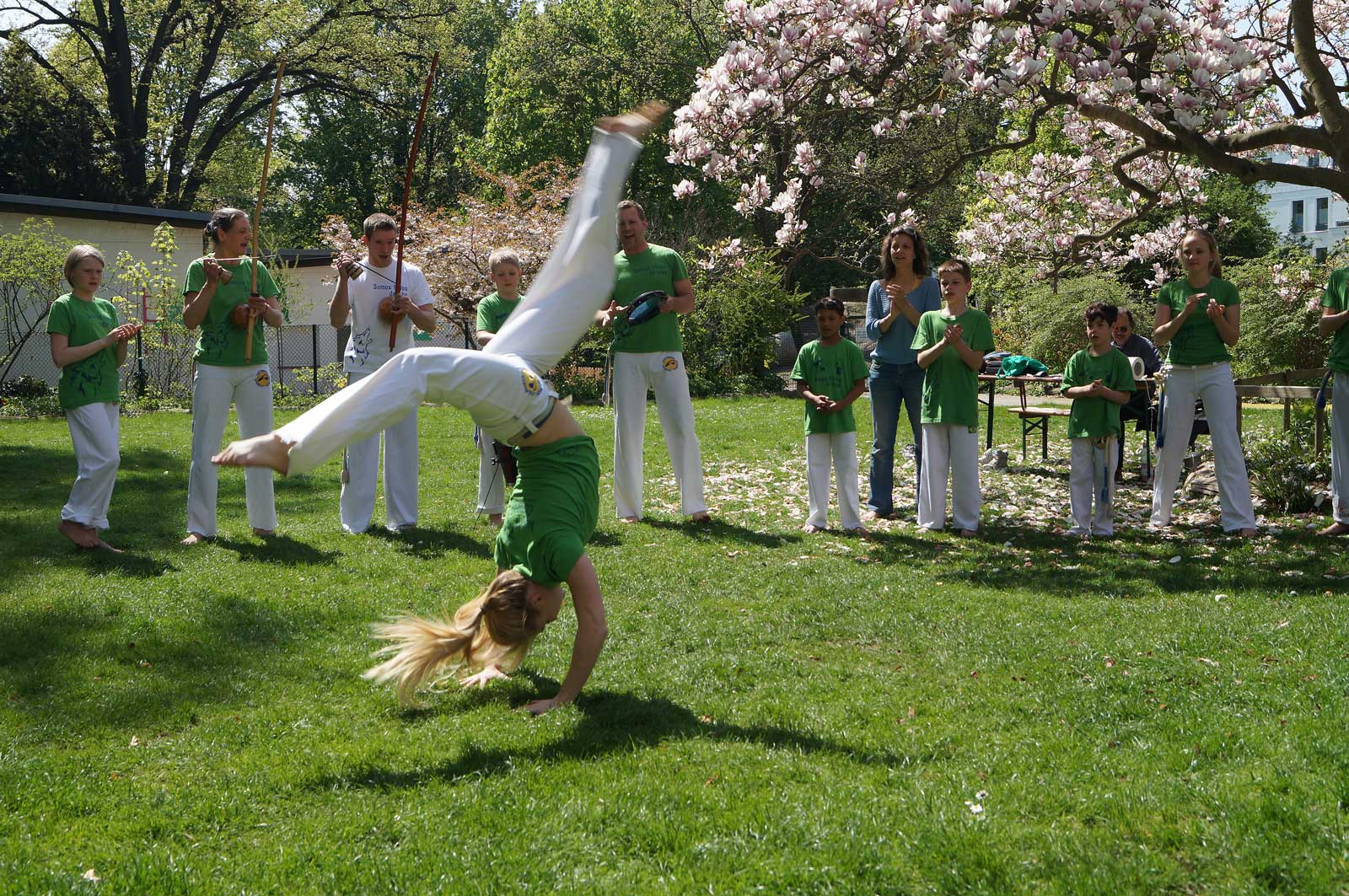 Capoeira Akademie Berlin: Training Kids aussen