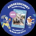 Sticker Capoeira Akademie Berlin ausgezeichnet 2019 von tip und Zitty Stadtmagazin