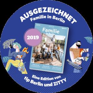 Sticker Capoeira Akademie Berlin ausgezeichnet 2019 von tip und Zitty